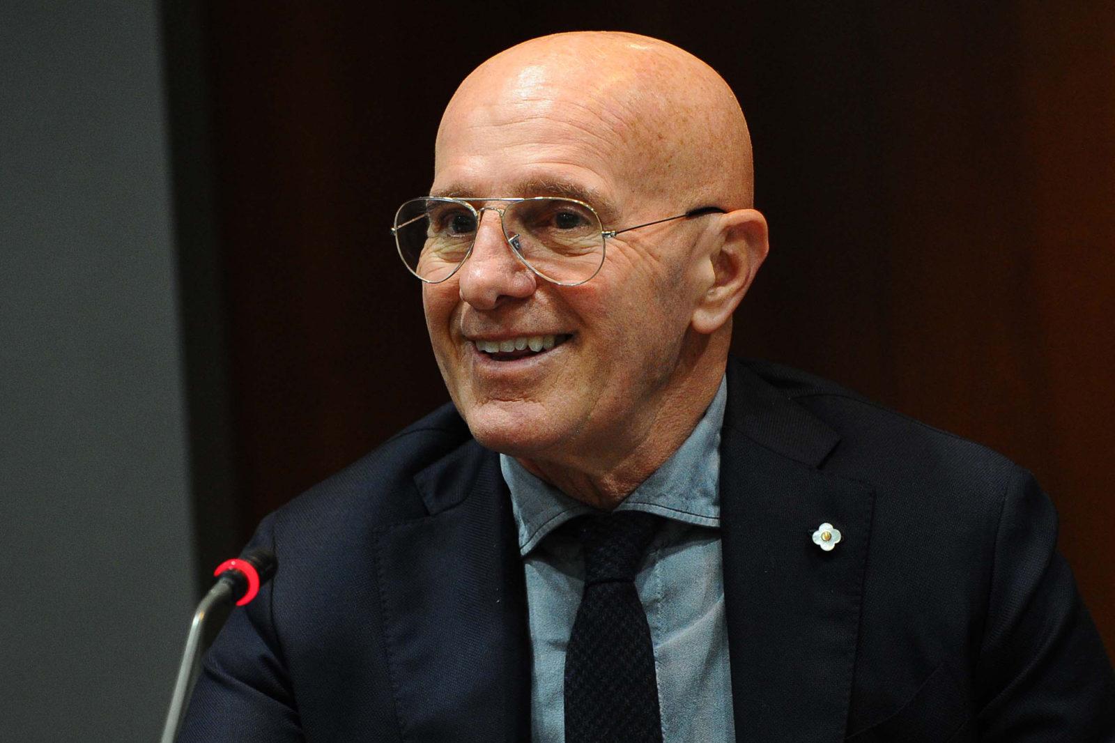 L'ex allenatore del Milan Arrigo Sacchi
