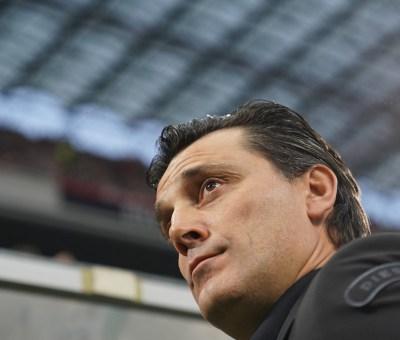 Vincenzo Montella durante Milan-Juve: a fine partita ha ottenuto ancora la fiducia