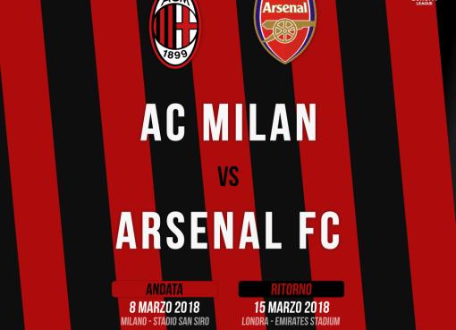 Sorteggiati gli ottavi di UEFA Europa League: sarà Milan-Arsenal