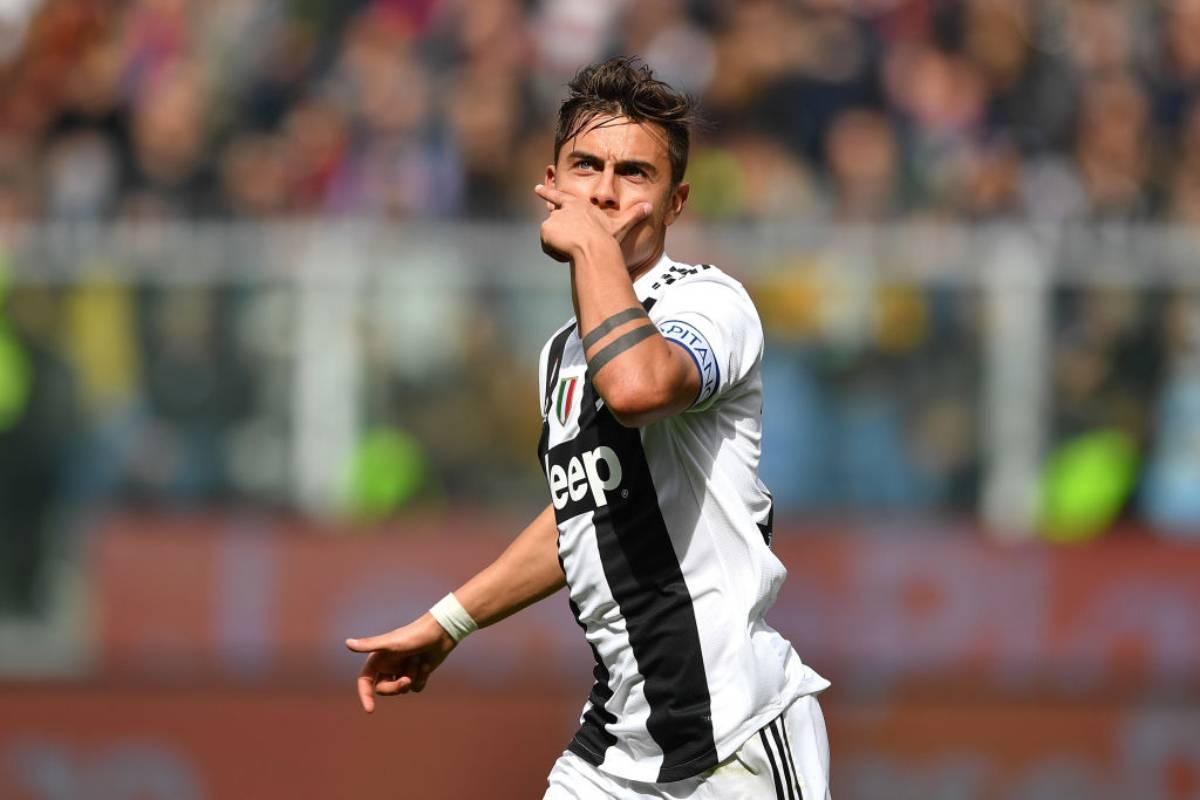 Infortunio Dybala largentino rientra per JuventusMilan