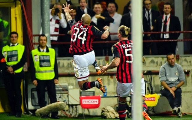 Nigel de Jong at AC Milan