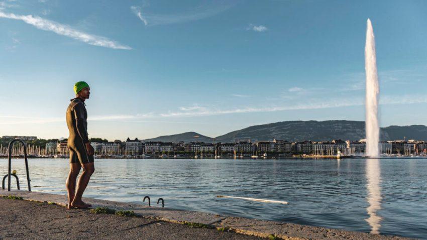 Ginevra, il lago Lemano. Svizzera