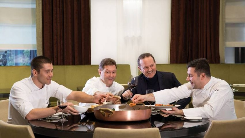 La consulenza del brunch al Gallia è firmata dai fratelli Cerea, in cucina tocca ai fratelli