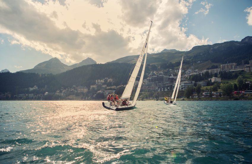 Sul lago di St.Moritz si può anche veleggiare Foto di Filip Zuan