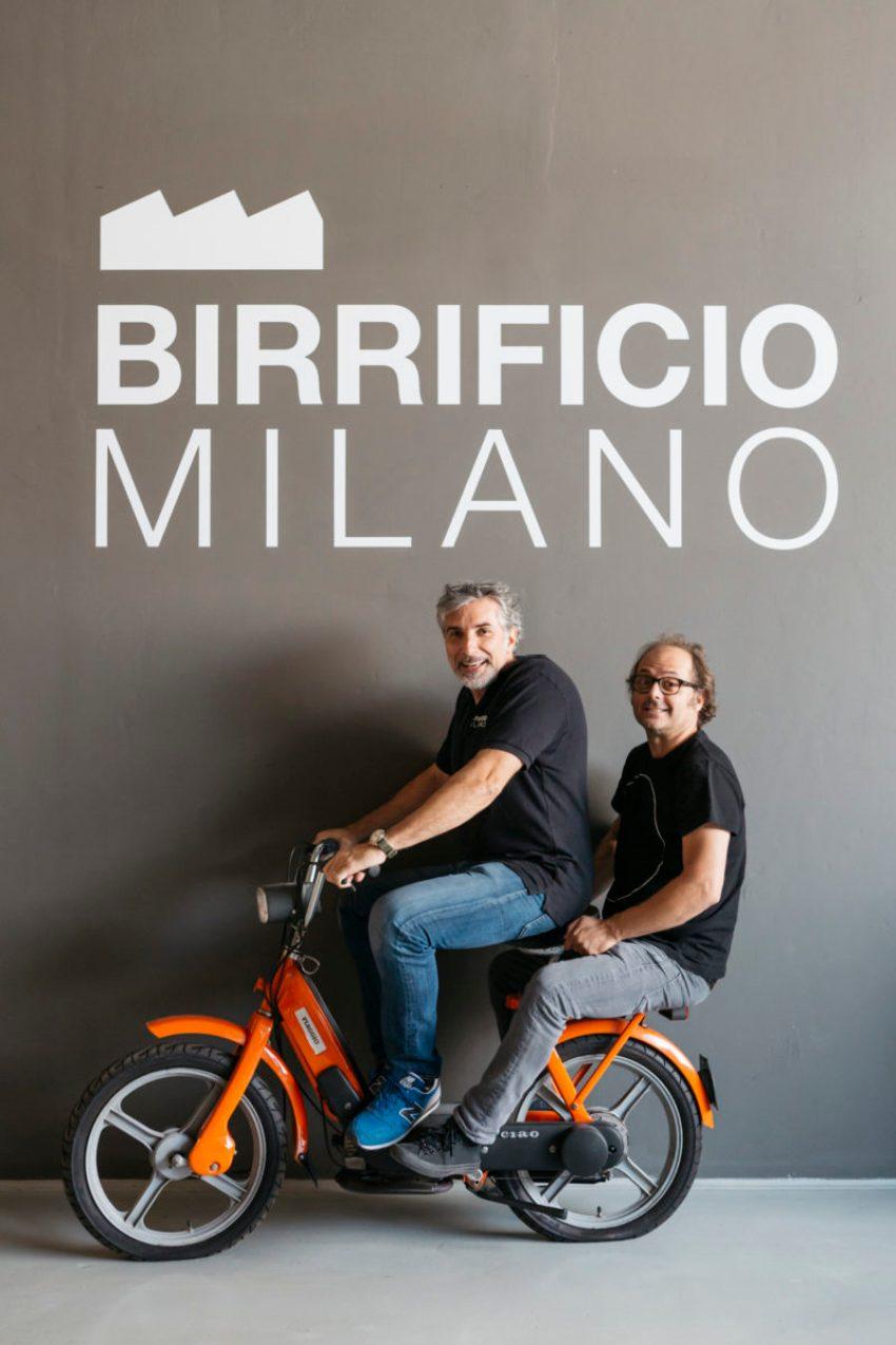 I mastri birrai Marco Cancelli e Fabrizio Pavani di Birrificio Milano
