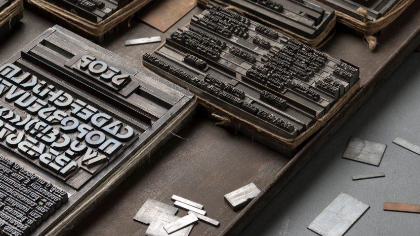 Caratteri mobili della stamperia del CFP Bauer