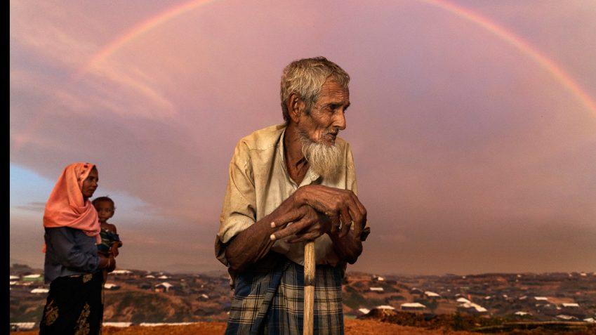Uno scatto di Paula Bronstein del suo lavoro sull'esodo dei Rohingya