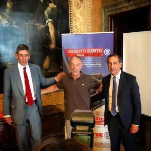 Luca Bianchi, presidente Atm Milano, Linus di Radio Deejay, e il sindaco di Milano, Beppe Sala