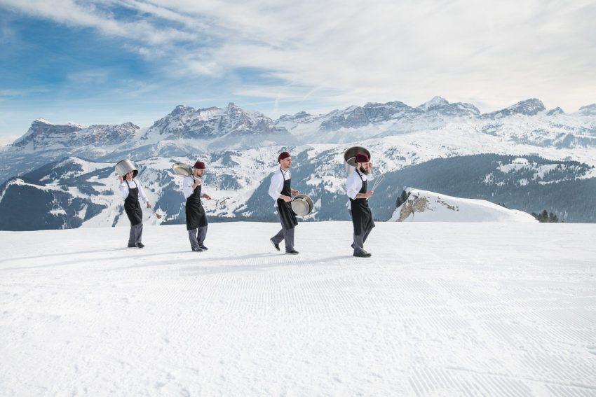 Sciare con gusto, in Alta Badia