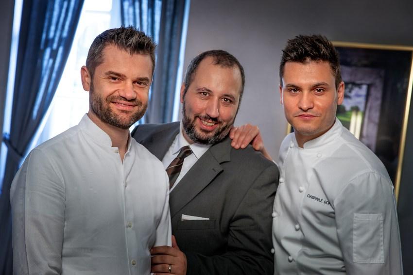 Enrico Bartolini, Francesco Palumbo e Gabirele Boffa