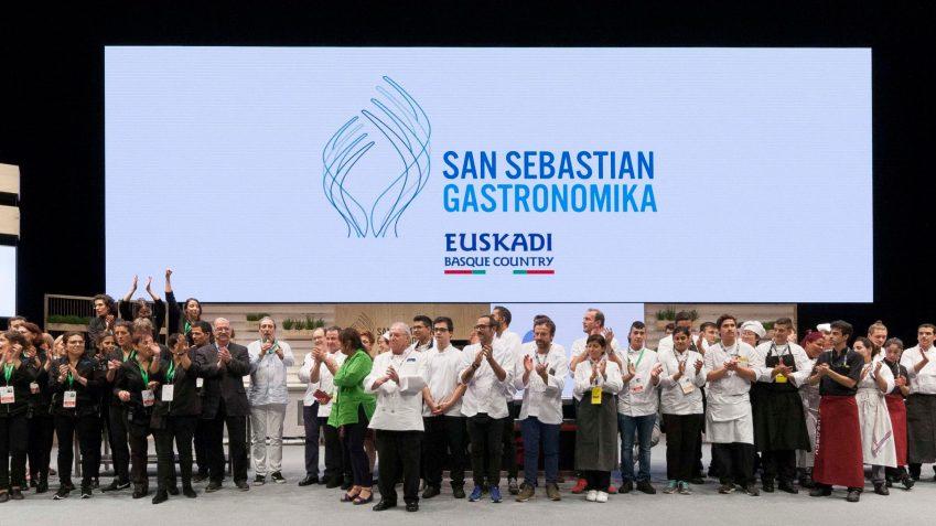 Tutti sul palco del Kursaal per il gran finale di Gastronomika 2018
