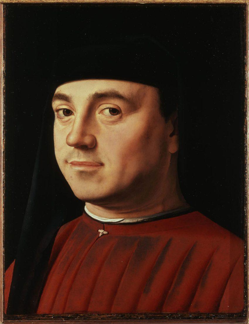 Antonello da Messina Ritratto d'uomo Galleria Borghese Roma