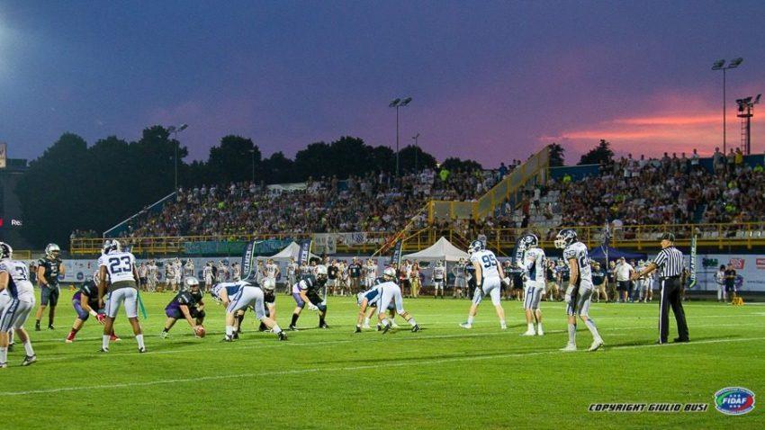 Lo stadio Breda, perfetto scenario al tramonto - foto di Giulio Busi