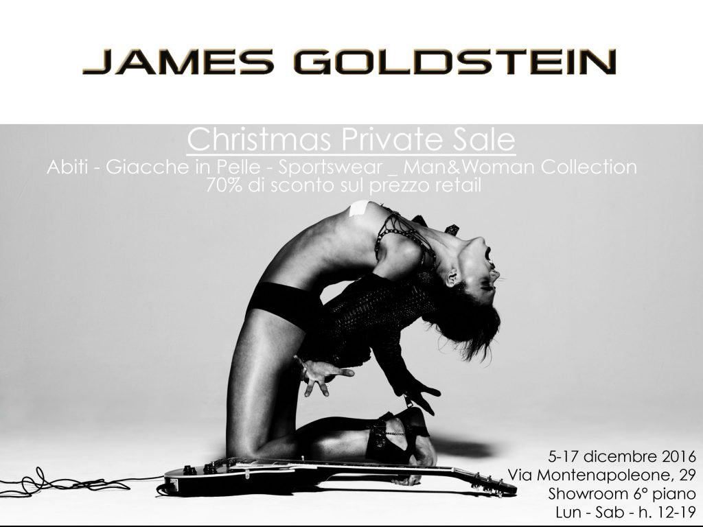 PRIVATE SALE 70  JAMES GOLDSTEIN in Via Montenapoleone