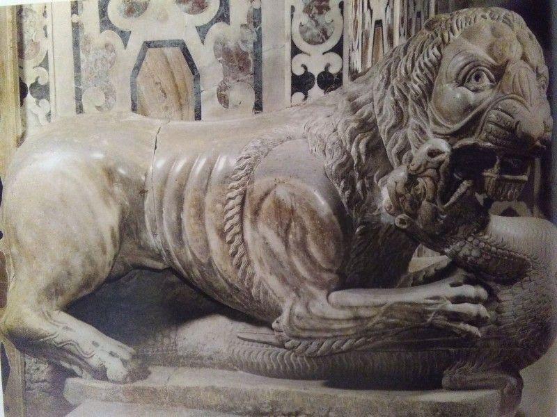 Guglielmo, Pulpito, leone e drago, 1159-62, Cagliari, Duomo