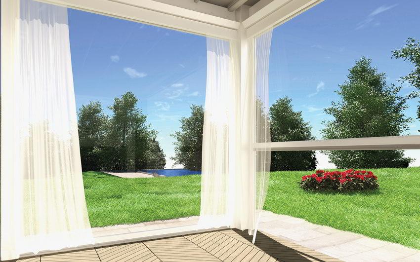 Le tende verticali per finestre wo und wo non sono solo semplici tende, ma concentrati di soluzioni intelligenti ed estremamente funzionali: Tenda Antivento Trasparente Per Verande In Pvc Cristal