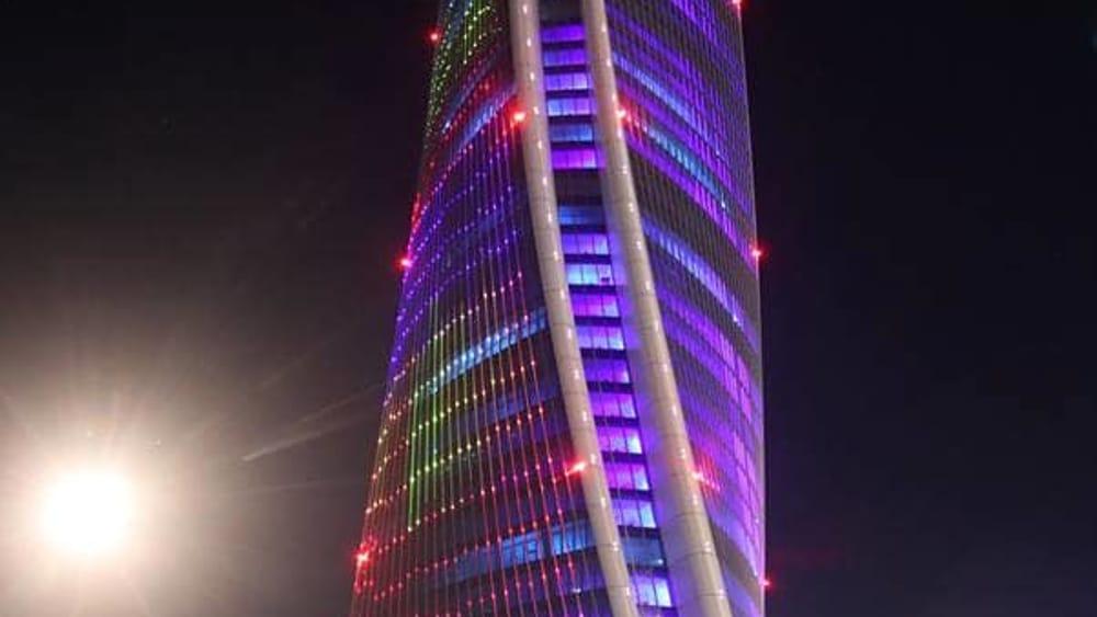 Laser Show dalla Torre Hadid Lo Storto in Citylife  Video