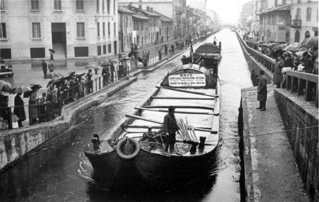 миланские каналы, архивная фотография