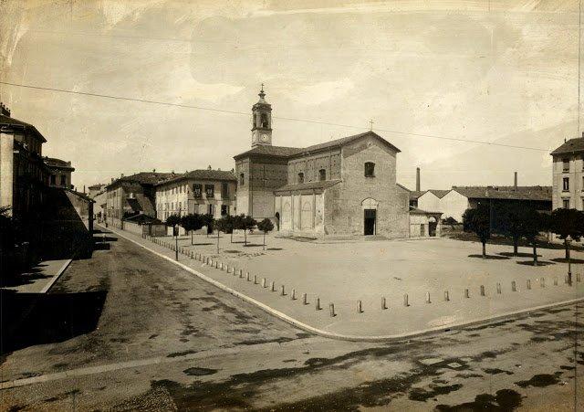 Милан Санта-Мария-алла-Фонтана, фотография начала XIX века