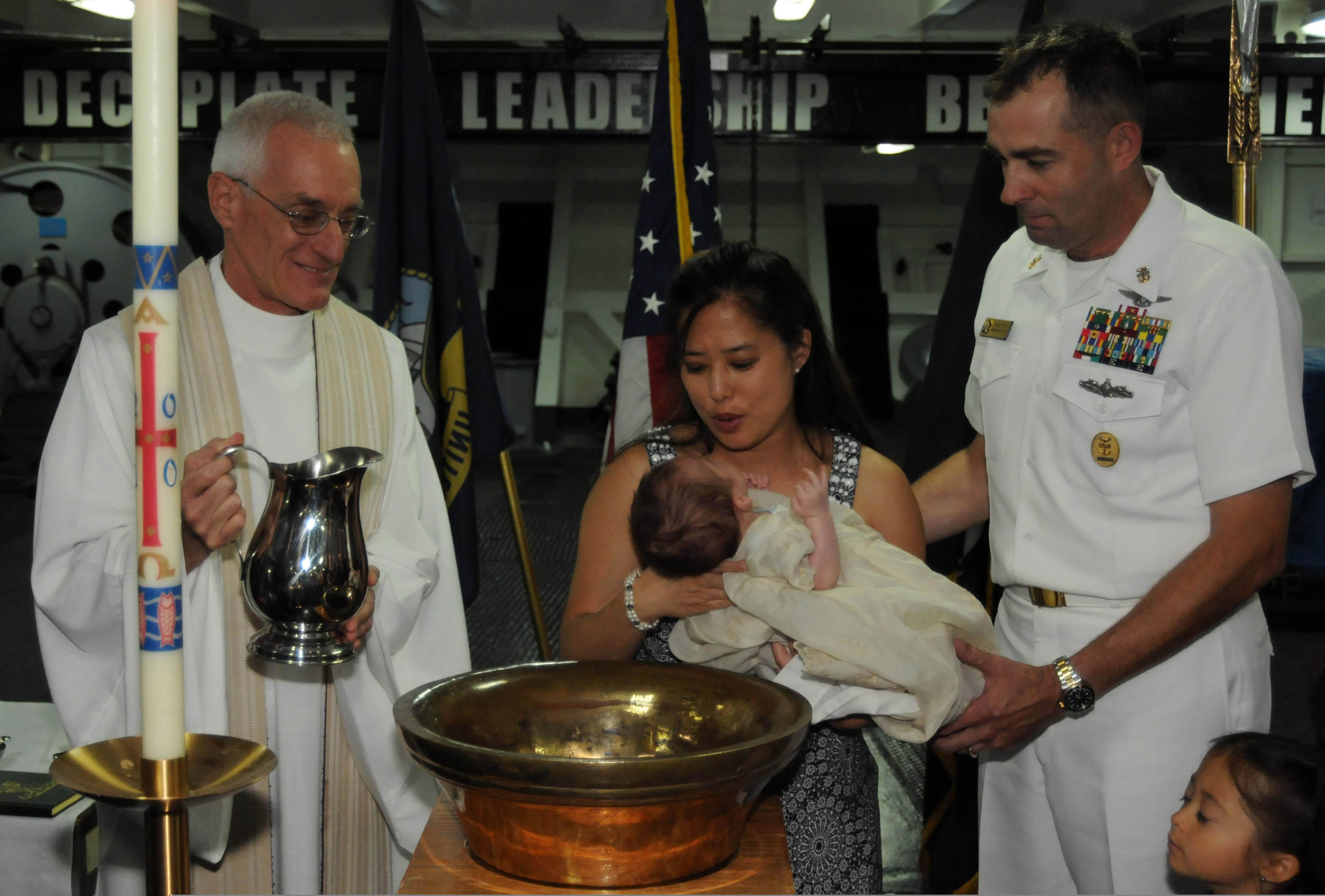 Baptism Aboard Uss Ronald Reagan