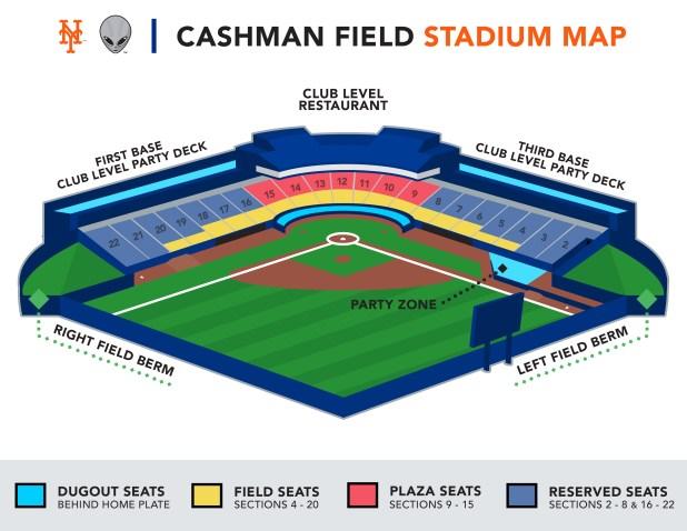 Las Vegas 51s Seating Chart Cashman Field Seating