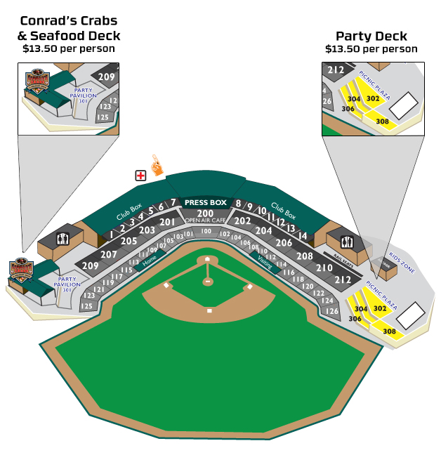 Group Party Areas  Aberdeen IronBirds Tickets