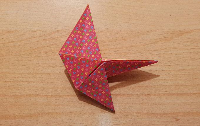 Fertig gefaltetes Origamipapier