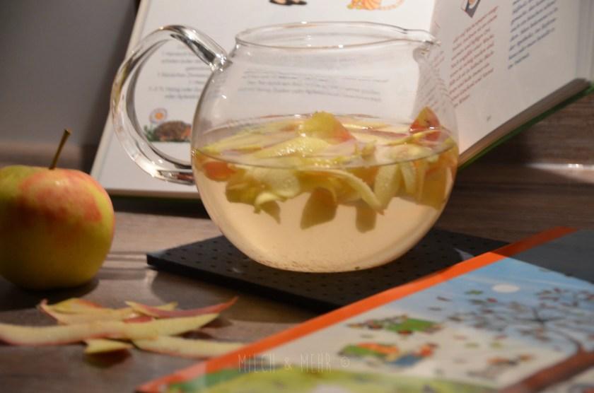 zuckerfreier gesunder Apfeltee Baby Kleinkind