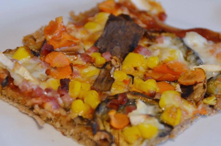 Rezept Pizza vegetarisch vegan mit Roggenteig