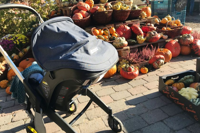 Einkaufen mit Doona Babyschale