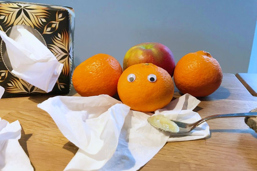 Kinder Infekte vorbeugen mit Ernaehrung