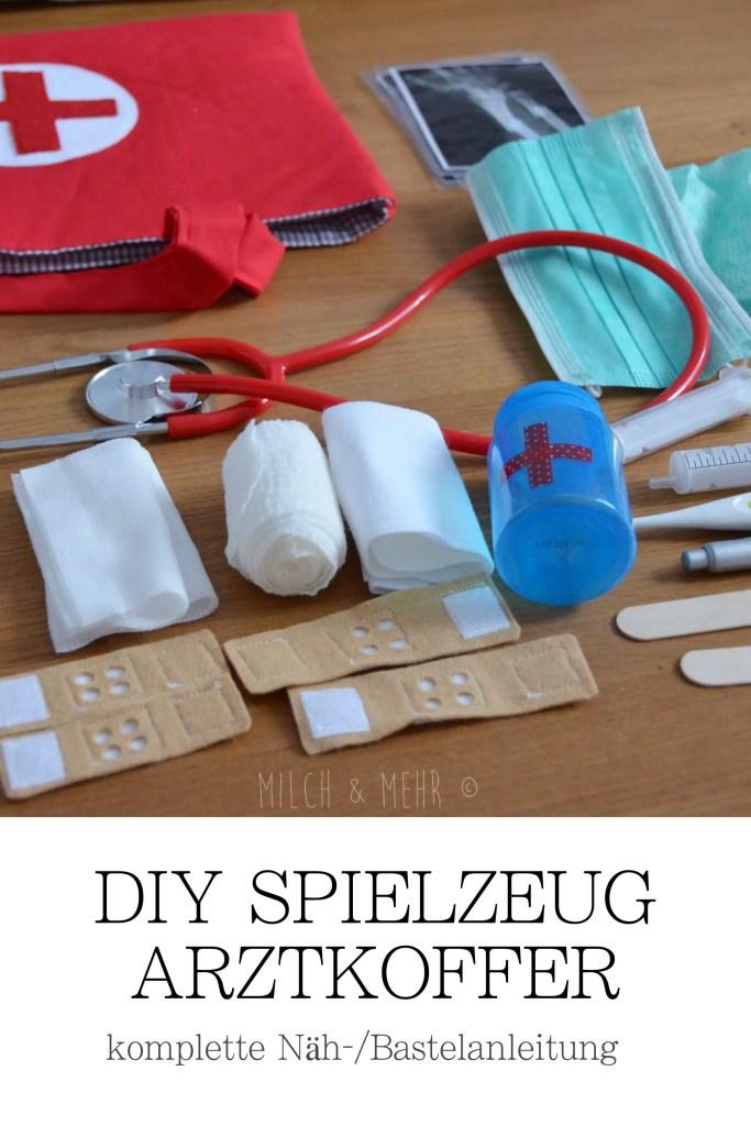 DIY Spielzeug Arztkoffer mit Zubehoer