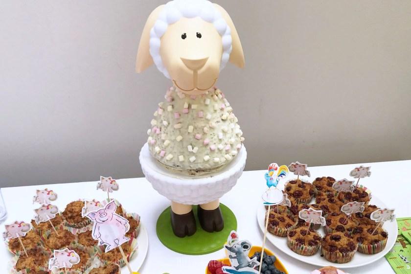 Caketales Schaf Kuchenstaender Bauernhof Kindergeburtstag
