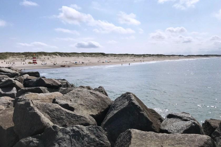 Hvide Sande Strand Blick von Mole
