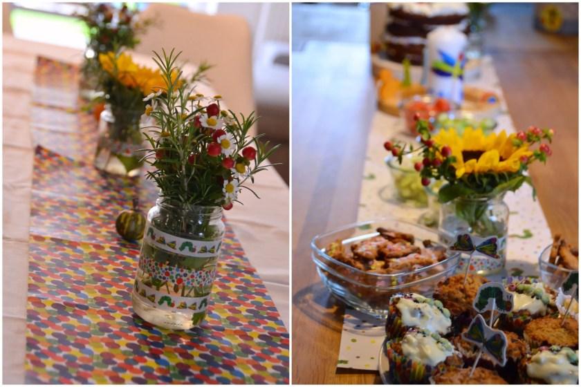 Raupe Nimmersatt Party Tischdekoration