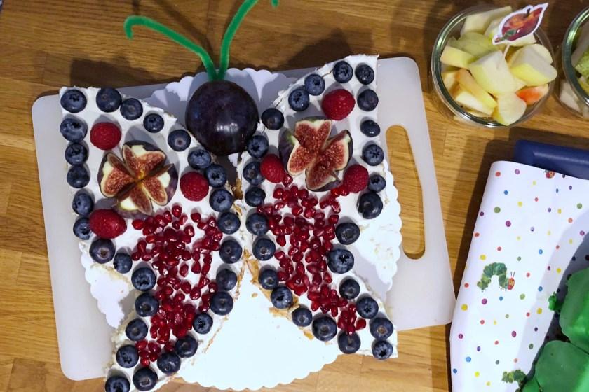 Schmetterlingskuchen Obstboden