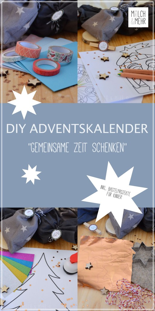 DIY Kinder Adventskalender Zeit schenken