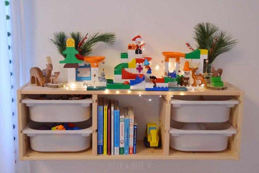 Hubelino Kugelbahn als Weihnachtsdekoration fuer Kinder