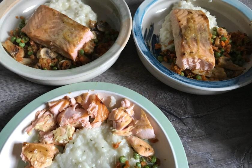 WIB #kw47 Mittagessen Lachs mit Risotto und Gemuese