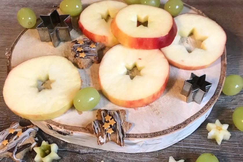 Apfel Scheiben Sterne fuer Weihnachtsfeier