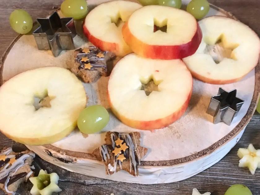 Apfel Sterne weihnachtliche Kinder Snacks