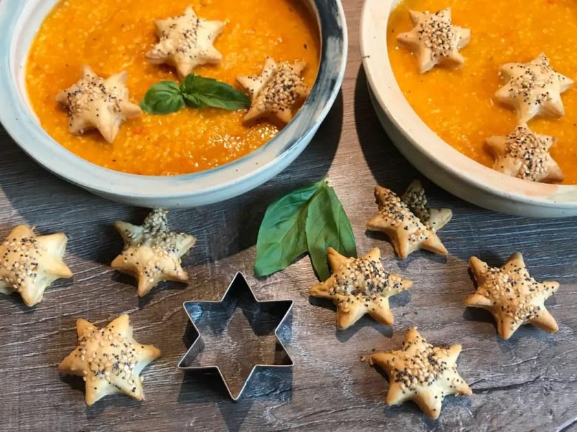 Blaetterteig Sterne Suppe