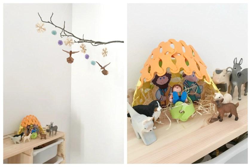 weihnachtliche Krippe aus Binabo Schleich Playmobil zum Spielen