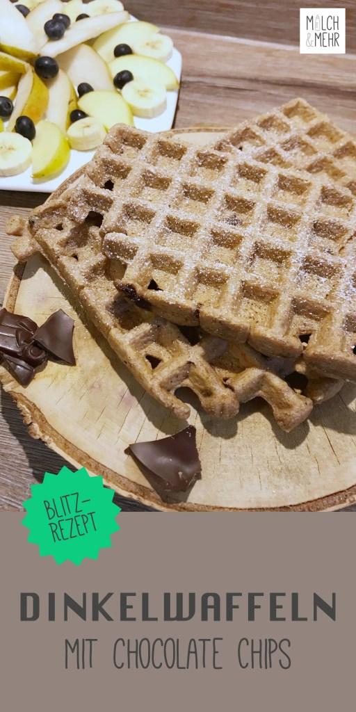 Dinkelwaffeln mit Chocolate Chips