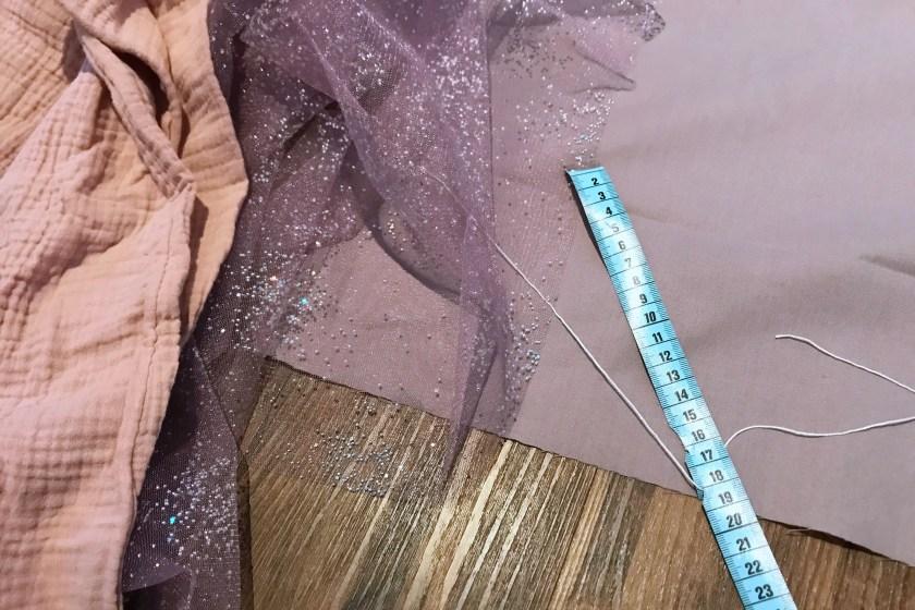 Material fuer DIY Prinzessinnen Kleid
