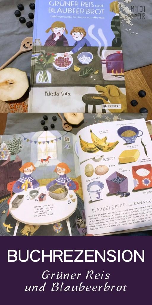 Gruener Reis und Blaubeerbrot Kochbuch fuer Kinder