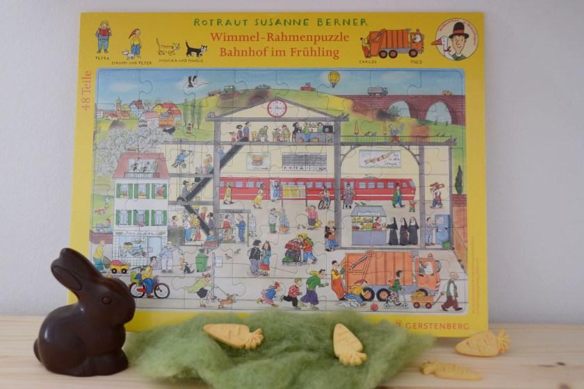 Wimmel Puzzle mit Rahmen Ostergeschenk