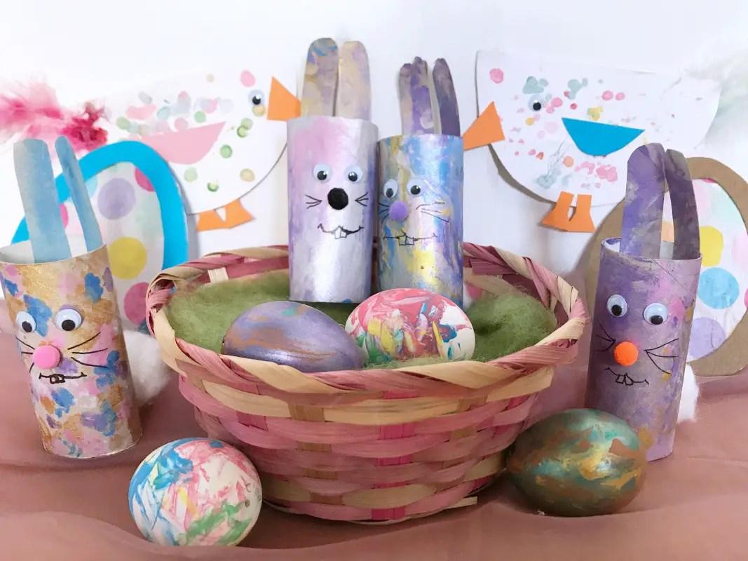 Basteln Kinder Fruehling Ostern