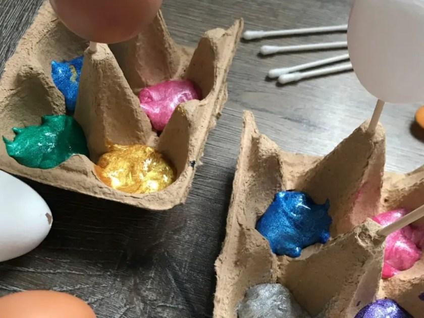 Ostereier Anmalen Eierkarton
