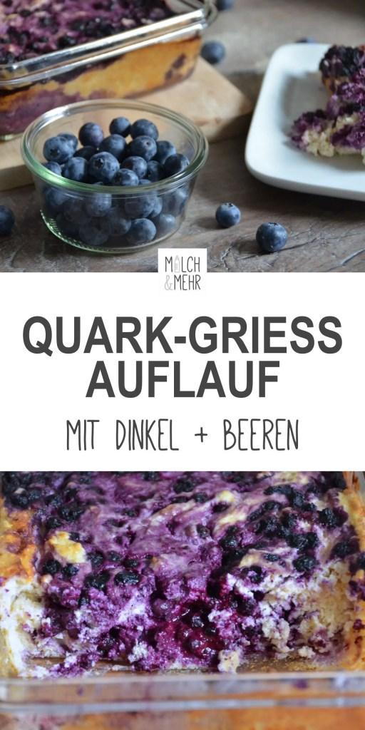 Quark Griess Auflauf mit Dinkel